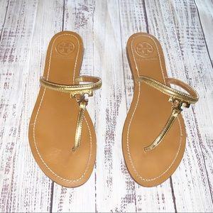 Tory Burch T Logo Thong Sandals